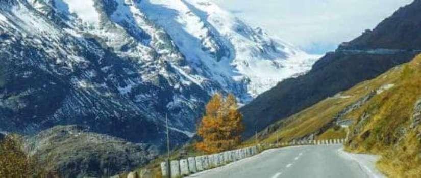 bergweg in de alpen