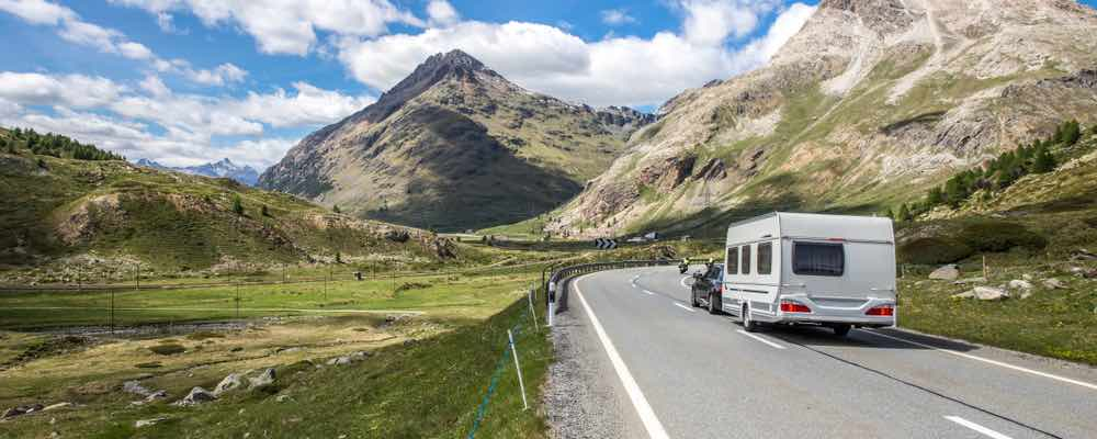 rijden met de caravan