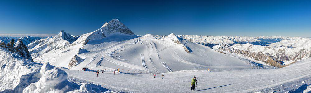 uitzicht van de hintertuxer gletscher