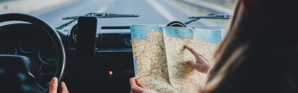 autorijden met landkaart