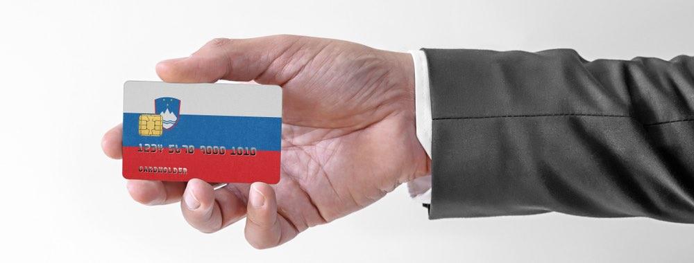 Sloveense vlag op betaalkaart
