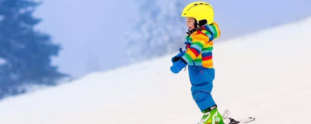 kind skiën