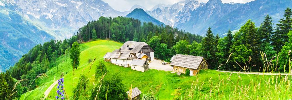 Boerderij in de Sloveense alpen