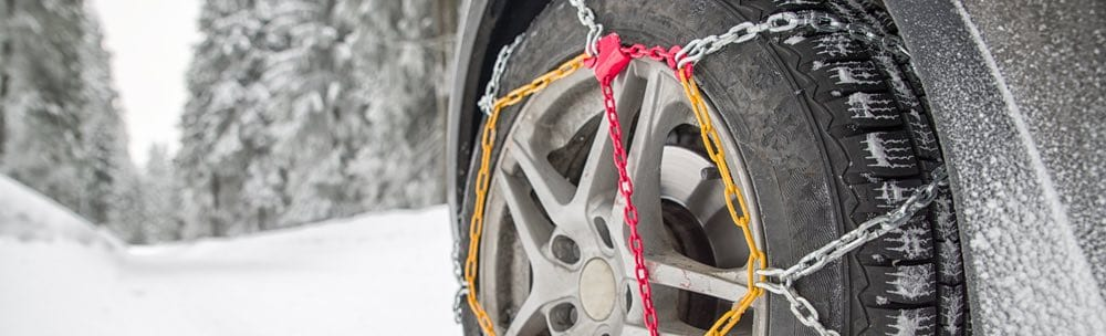 sneeuwketting om auto