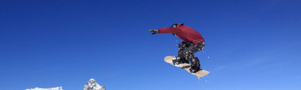 snowboarder in de lucht