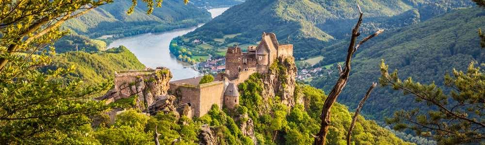 uitzicht van een kasteel