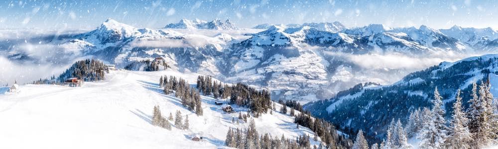uitzicht skigebied in tirol