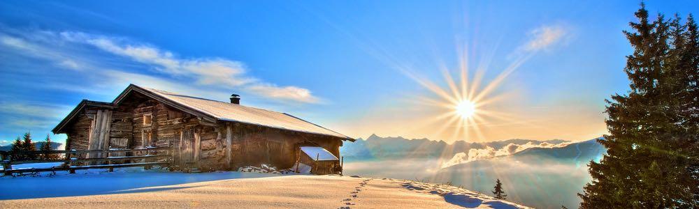 uitzicht winter landschap tirol