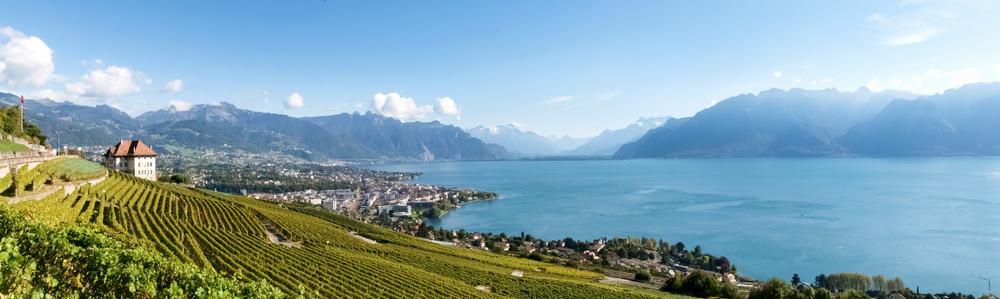 uitzicht in zwitserland land en meer