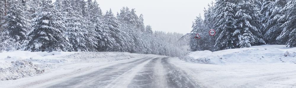 ijzel op de weg